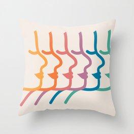 Boca Silhouettes Throw Pillow