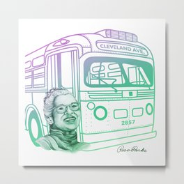 Rosa Parks, Courageous Woman Metal Print