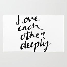 Love deeply Rug