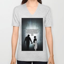 u2's there is a light Unisex V-Neck