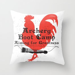 Archery Boot Camp >>-----> Aiming for Greatness Throw Pillow