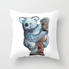 the koala awesome Throw Pillow