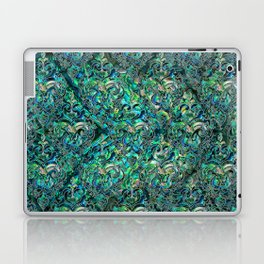 Persian Oriental pattern abalone and silver Laptop & iPad Skin