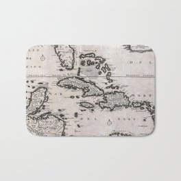 Vintage Americas Map Bath Mat