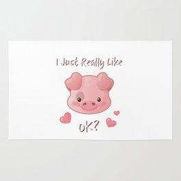 I Just Really Like Pigs, OK? Rug