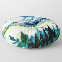Mountain Landscape Floor Pillow