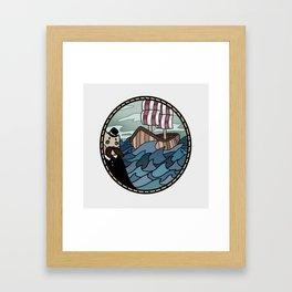 It's land! Framed Art Print