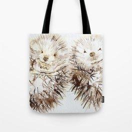 Hedgehog Cuddles Tote Bag