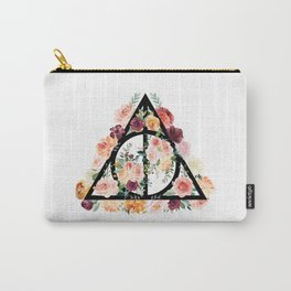 Watercolor Deathly Hallows Carry-All Pouch