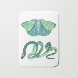 Moth and Snake Bath Mat