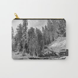 Oregon Adventures Black and White - Nature Photography Carry-All Pouch