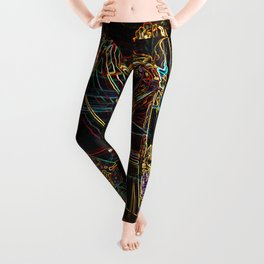 Abstract Roses of Vicenza, Italy Leggings