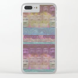 Easter Island Sunset Magic Print Clear iPhone Case
