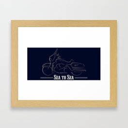 Sea to Sea - Blue Edition Framed Art Print