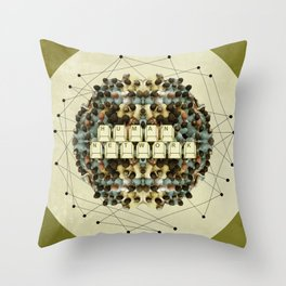 Human Network Throw Pillow