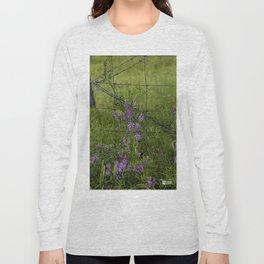 Purple Alfalfa flowers Long Sleeve T-shirt