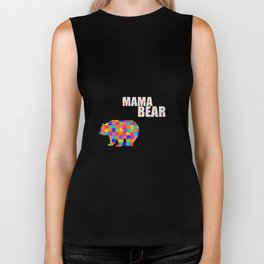 Mama Bear Autism Awareness Support Biker Tank