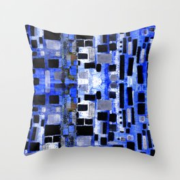 Urban Blocks Throw Pillow