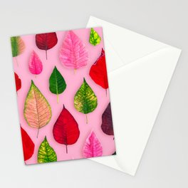 Plants on Pink Stationery Cards