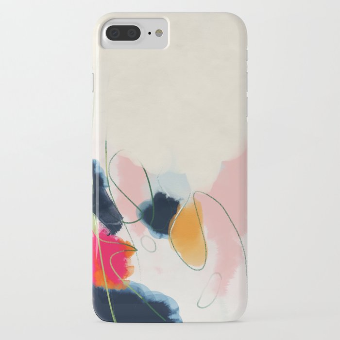 Abstract Art IPhone Case By Lalunetricotee
