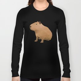 Capybara Polygon Art Long Sleeve T-shirt