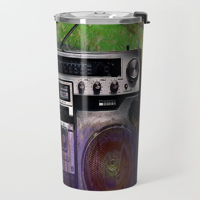 Music Boom Box  Travel Mug