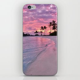 SUNSET AND PALM TREES iPhone Skin