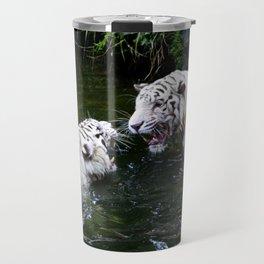 Tigers Fight Travel Mug