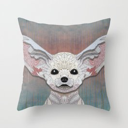 Fennec Fox Throw Pillow