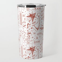 Doodle Christmas pattern Travel Mug