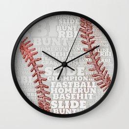 Baseball Dreams and RBIs Wall Clock