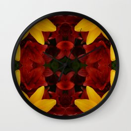 """""""A Gathering of Lilies"""" Remix - 2 (2-1) [D4466~24] Wall Clock"""