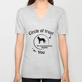 Circle of trust my Czechoslovakian Wolfdog Unisex V-Neck