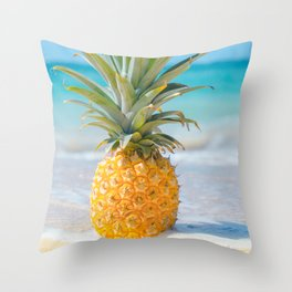 Aloha Pineapple Beach Kanahā Maui Hawaii Throw Pillow