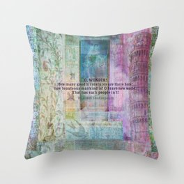 Shakespeare hope happy quote Throw Pillow