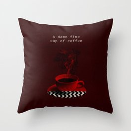 """""""Twin Peaks"""" - A damn fine cup of coffee Throw Pillow"""