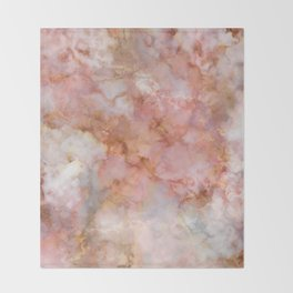 Beautiful & Dreamy Rose Gold Marble Throw Blanket