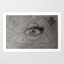 Eye Love U Art Print