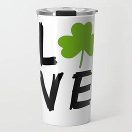 Love St Patricks Day Travel Mug