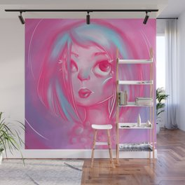 Pink Lady Pearls Wall Mural