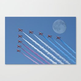 Fly me to the moon Canvas Print