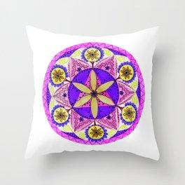 Crystaline Nature Mandala Throw Pillow