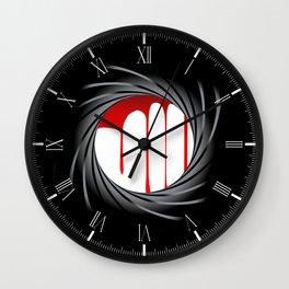 Barrel Blood Wall Clock