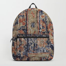 Vintage Woven Blue Backpack