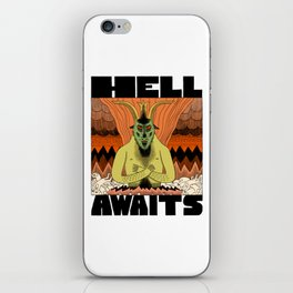 Hell Awaits iPhone Skin