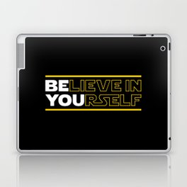 Believe In Yourself (Be You) Typography Laptop & iPad Skin