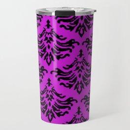 Vintage Damask Brocade Dazzling Violet Travel Mug