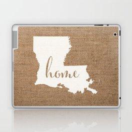 Louisiana is Home - White on Burlap Laptop & iPad Skin