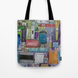 Ecig Tetris Tote Bag