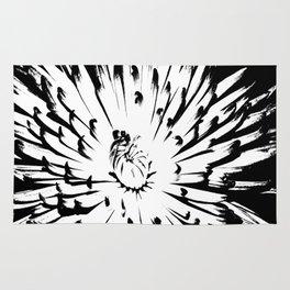 Large Chrysanthemum - BWScale Rug
